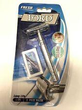 Lord FRESH Long Life 3 Piece safety Razor blade Merkur Style Head L125 + 5Blades