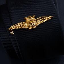 Owl tie clip,owl tie slide,owl tie bar,owl tie clasp,bird tie-clip,gold color