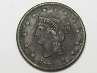 1840 US Braided Hair Large Cent (Large Date).  #16