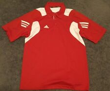 NWT Men's Adidas Climacool Scorch Golf Tennis Polo Shirt Red White Small $50
