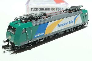 Fleischmann N DB AG Rail 4 Chem 185 541-0 silber grün 867385 NEU OVP