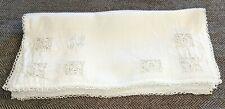 Antique Linen's - 12 Linen Needle Lace, Monogrammed Place Mats - S33