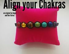Code 301 Align your chakras infused braided bracelet unisex energy yoga bead 8mm