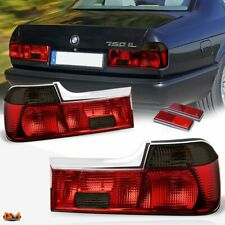 For 88-94 BMW 7-Series E32 Pair Red/Smoked Lens Tail Light Rear Stop/Brake Lamp