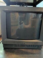"SONY TRINITRON PVM-14N1U 14"" RETRO - COLOR CRT VIDEO GAMING MONITOR need button"