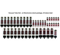 Vacuum Tube Set - JJ Electronics stock package, 43 tubes total