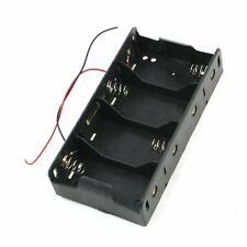 Spring Clip Black 4 x 1.5V D Size Battery Batteries Holder Case LW