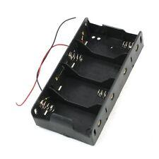 Spring Clip Black 4 x 1.5V D Size Battery Batteries Holder Case LW