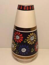 Mid century 135/20 Drummer & Breiden  German pottery vase floral design