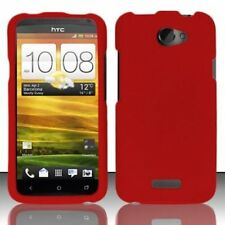 Hard Rubberized Case for HTC One X - Red