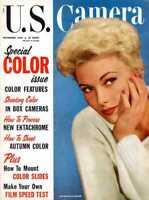 U.S. Camera Magazine 1955  Stunningly Beautiful Actress Kim Novak on Cover !