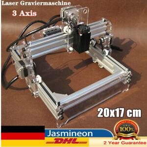 Mini Desktop Laser Gravierer CNC Graviermaschine Wood Marking Engraver 3 Axis DE