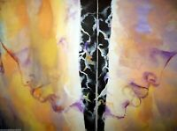 Original African American 30x24 Acrylic Double Canvas Painting
