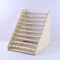 Wooden Paint Bottles Rack Model Organizer Epoxy Tool Storage Holder 75 Holes