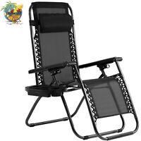 Zero Gravity Chair Lounge Recliner Outdoor Beach Patio Garden Folding Chair