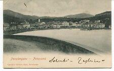 1907 Portolongone Panorama barche Guller destinazione Lucca FP B/N VG