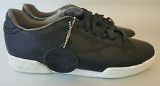 Reebok NPC UK ii Horween Leather, size 5.5 Mens/ 7Wmns, Black/Chalk, New, NWT,DS
