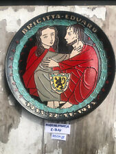 Tubelined Ceramic Art Plate Mid Century Pottery AMPHORA Perignem JOOST MARÉCHAL