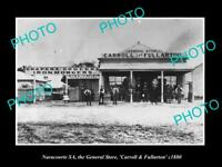 OLD LARGE HISTORIC PHOTO OF NARACOORTE SOUTH AUSTRALIA, THE GENERAL STORE c1880