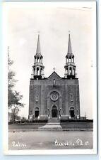 *Church Chapel Eglise Marieville Quebec Canada Vintage Real Photo Postcard C42