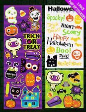 3 X Halloween pegatinas favorece Truco tratar botín Bolsa Relleno Partido premios libre de envío