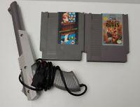 Nintendo NES Lot- Zapper Light Gun Super Mario Bros Duck Hunt/ Bad Boys Games