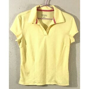 Athleta Womens Polo  Golf Tennis Shirt Yellow Size M