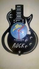 Guitar Rock themed record clock