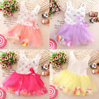 Toddler Baby Girls Kids Princess Party Sequins Dress Bow Skirt Petal Tutu 0-4Y