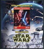 Madagascar 2018 MNH Star Wars Last Jedi Rey Kylo Ren Luke Snoke 1v M/S Stamps