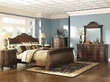 Ashley Furniture North S Queen Sleigh 6 Piece Bedroom Set B553 77