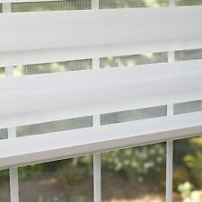 """Best Home Fashion Premium Duo Wood Look Roller Window Shade - White - 26"""" NEW"""