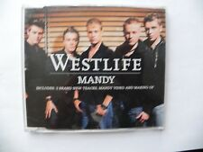 WESTLIFE CD SINGLE MANDY 4 TRACK & VIDEO