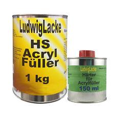 2K Acrylfüller 1,15 kg grau Grundierung für unter Autolack LudwigLacke