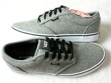 Vans Mens Atwood Plaid Gray Red Black Wool Skate Boat Casual Shoes Size 9.5 NWT