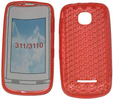 For Nokia Asha 311 / 3110 Pattern Soft Gel Case Cover Protector Pouch Orange UK