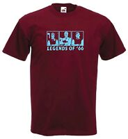 Legends Bobby Moore Hurst Peters Of West Ham Football Soccer T-Shirt - All Sizes