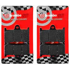 2 Coppie Pastiglie Freno Brembo Anteriori per YAMAHA MT-09 Tracer ABS 850 16>17