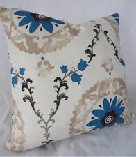 Black  Ivory  Blue Grey Magenta Linen Look Cushion Cover 45cm