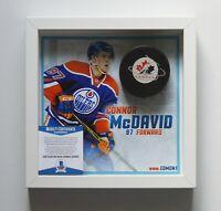 Connor McDavid Autogramm Signed NHL Canada Hockey Puck Beckett COA signiert