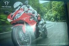 Triumph Motorcycle Range Brochure / Poster 2013 / 2014 (inc Daytona 675 pic )