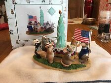 "Charming Tails "" Let Freedom Ring"" Fitz And Floyd Statue Of Liberty Mouse"