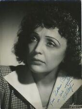 Edith PIAF (Singer): Signed Photograph