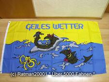 Fahnen Flagge Geiles Wetter Krake - 90 x 150 cm