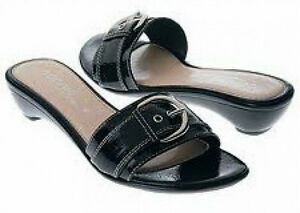 Connie Banda slide sandals handmade in Italy 6 Med NEW