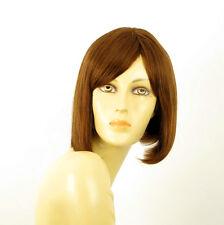 perruque femme 100% cheveux naturel châtain clair cuivré ref MYLENE 30