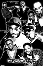 "DJ JAZZY JEFF & FRESH PRINCE  11x17  ""Black Light"" Poster"