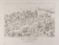 Incisione Antica 1876: Campo Di Battaglia' Eylau. Napoleone Bonaparte