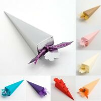 Confetti Cones Wedding Favour Silk Textured Boxes - 10 pack