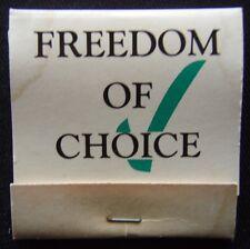 Fair Go Ltd for Civil Liberties & Freedom Of Choice 02 6331518 Matchbook (Mk2)
